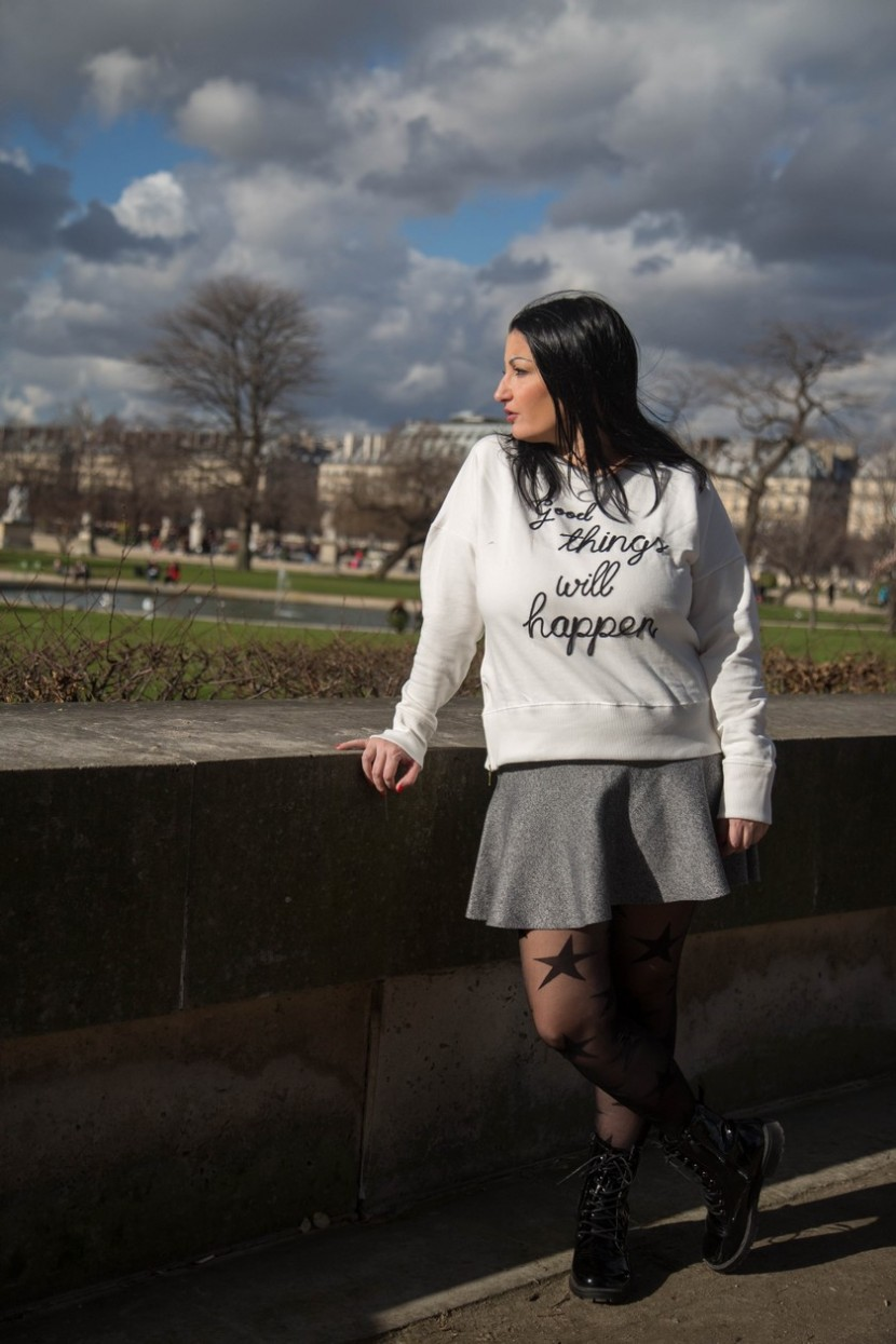 Blog mode melolimparfaite top mango good things will happen jupe CA tuileries