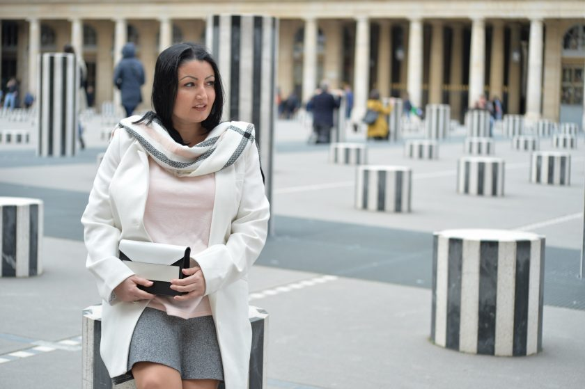 Blog mode melolimparfaite Narciso Rodriguez for her look palais royal assise narciso